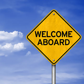 Street Sign: Welcome Aboard